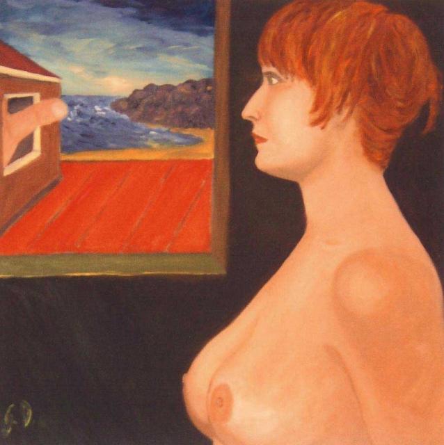 LE ILLUSIONI FINISCONO ALL'ALBA - olio su tela cm. 50x50
