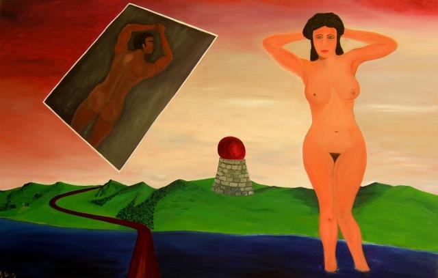 MARTE e VENERE - olio su tela cm.100x150 - 2010