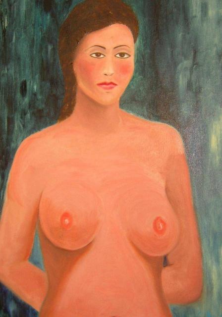 NELA - olio su tela cm. 50x70