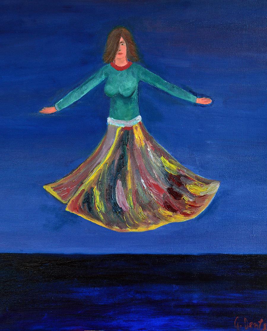 SHANTI DANCESHANTI DANCE olio su tela cm.35x40